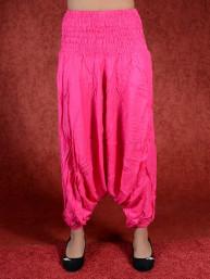 Donkerroze harem broek model sinbad