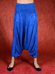 Donker blauwe harem broek model sinbad