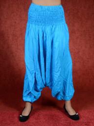 Turkooise harem broek model sinbad