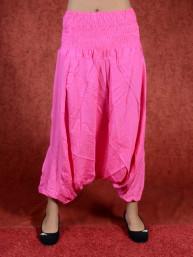 Roze harem broek model sinbad