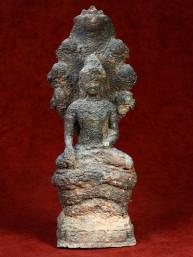 Boeddha met Naga Lopburi stijl antiek finish