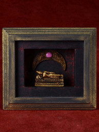 Decoratief 3D schilderijtje met dinsdag Boeddha