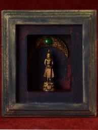 Decoratief 3D schilderijtje met woensdag Boeddha
