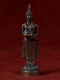 Boeddha miniatuur voor woensdag Boeddha brons