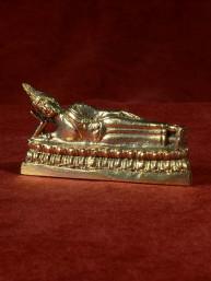 Boeddha miniatuur voor dinsdag Boeddha messing