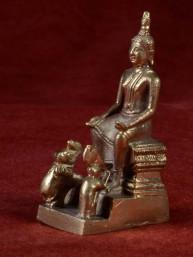 Boeddha miniatuur voor woensdag middag Boeddha messing