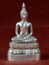Boeddha miniatuur voor donderdag Boeddha vernikkeld