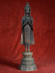 Klassieke Ratankosin Boeddha staand brons