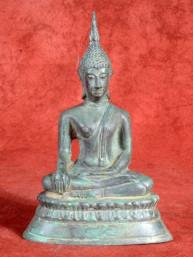 Eenvoudig bronzen beeld van Ayuthaya Boeddha