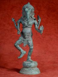 Ganesha dansend op lotus brons Khmer stijl