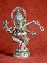Ganesha dansend brons vernikkeld