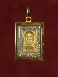 Phra Somdej Boeddha Amulet met zirkoontjes