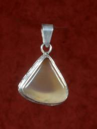 Agaat hanger zilver triangel