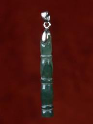 Hanger Jade Bamboo met zilveren oog