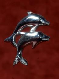 Dolfijn hanger zilver