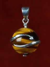Jupiter hanger van tijgeroog met zilver