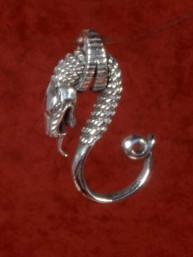 Decoratieve hanger van een Serpent / Slang 925 zilver