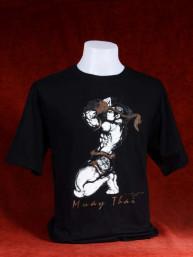 "Muay Thai T-Shirt ""Wai Khruh"" zwart"