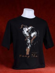 "Muay Thai T-Shirt ""Sila Kratob""  zwart"