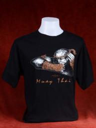 "Muay Thai T-Shirt ""Naka Kluen Gai"" zwart"