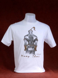 """Muay Thai T-shirt """"The Fighter"""" wit"""
