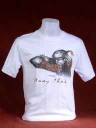 "Muay Thai T-Shirt ""Naka Kluen Gai"" wit"