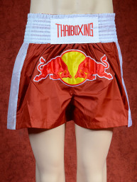 Muay Thai training short Red Bull roestbruin