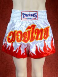 Originele Twins wedstrijd short Muay Thai rood wit