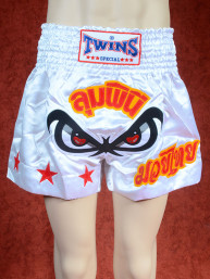 Originele Twins wedstrijd short Muay Thai No Fear, wit