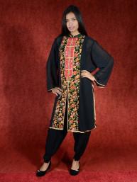 Salwar kameez, Indiase jurk of Punjabi dress zwart rood