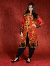 Salwar kameez, Indiase jurk of Punjabi dress rood zwart goud