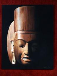 Schilderij met hoofd van Harihara Khmer style