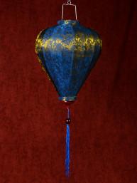 Chinese Lampion Lamp klein blauw-goud