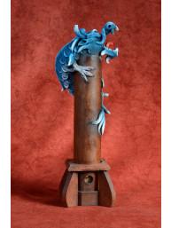 Wierookbrander met draak groot blauw