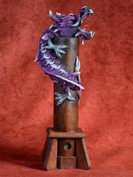Wierookbrander met draak groot paars