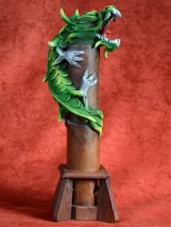 Wierookbrander met draak groot groen