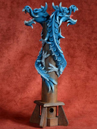 Wierookbrander met dubbele draak blauw