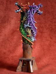 Wierookbrander met dubbele draak paars -  rood-groen