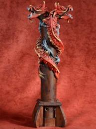Wierookbrander met dubbele draak rood