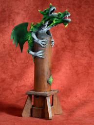 Wierookbrander met twee-koppige draak groen