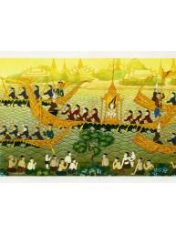Thaise dubbele wenskaart met envelop nieuwjaar en geluk