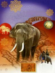 Thaise dubbele wenskaart met envelop nieuwjaar en succes