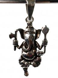 Hanger zilver dansende  Ganesha