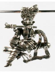 Hanger zilver Krishna met fluit