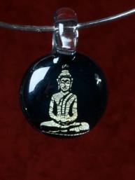 Handvervaardigde glazen hanger met Boeddha
