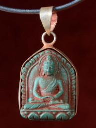 Hanger van Boeddha Dhyana mudra groen speksteen