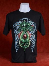 T-Shirt met groene Chinese Draak