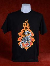 T-Shirt met afbeelding van brandende schorpioen