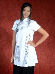 Shirt Bamboe script wit