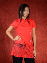 Shirt met dragon print rood